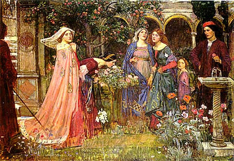 John William Waterhouse-The Enchanted Garden