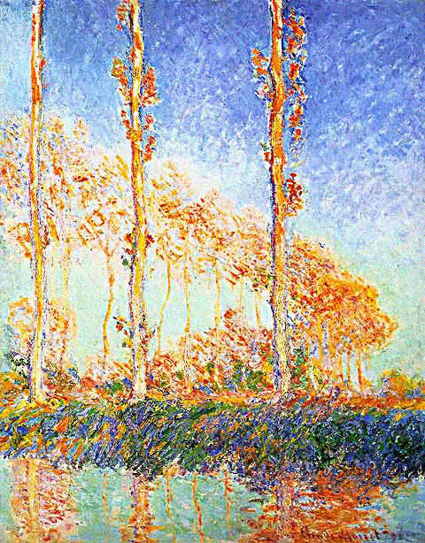 Claude Monet-Poplars Sun Effect