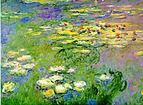 Claude Monet-Waterlilies Green and Yellow -Detail (2)
