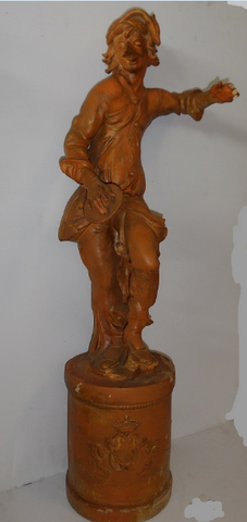 Antique decorative terracotta statue.