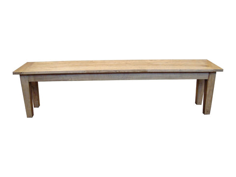 European oak bench seat. Matches Fiona table.