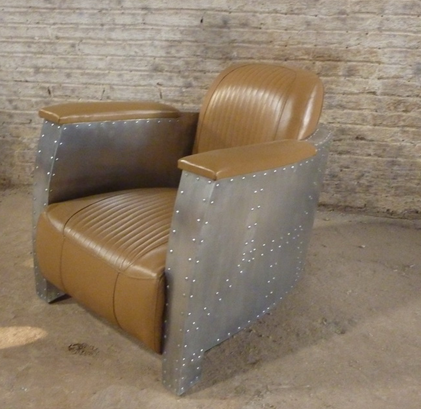 Aviator industrial style accent chair