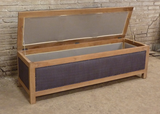 French style padded storage trunk