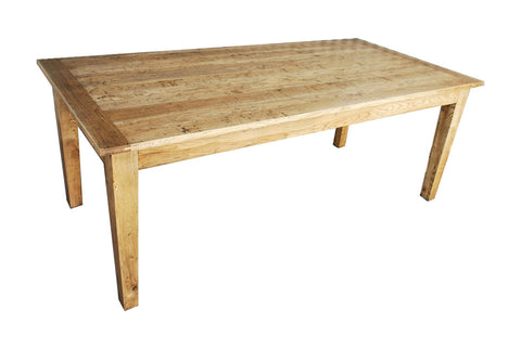European oak dining table