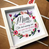 'Mother' floral wreath frame