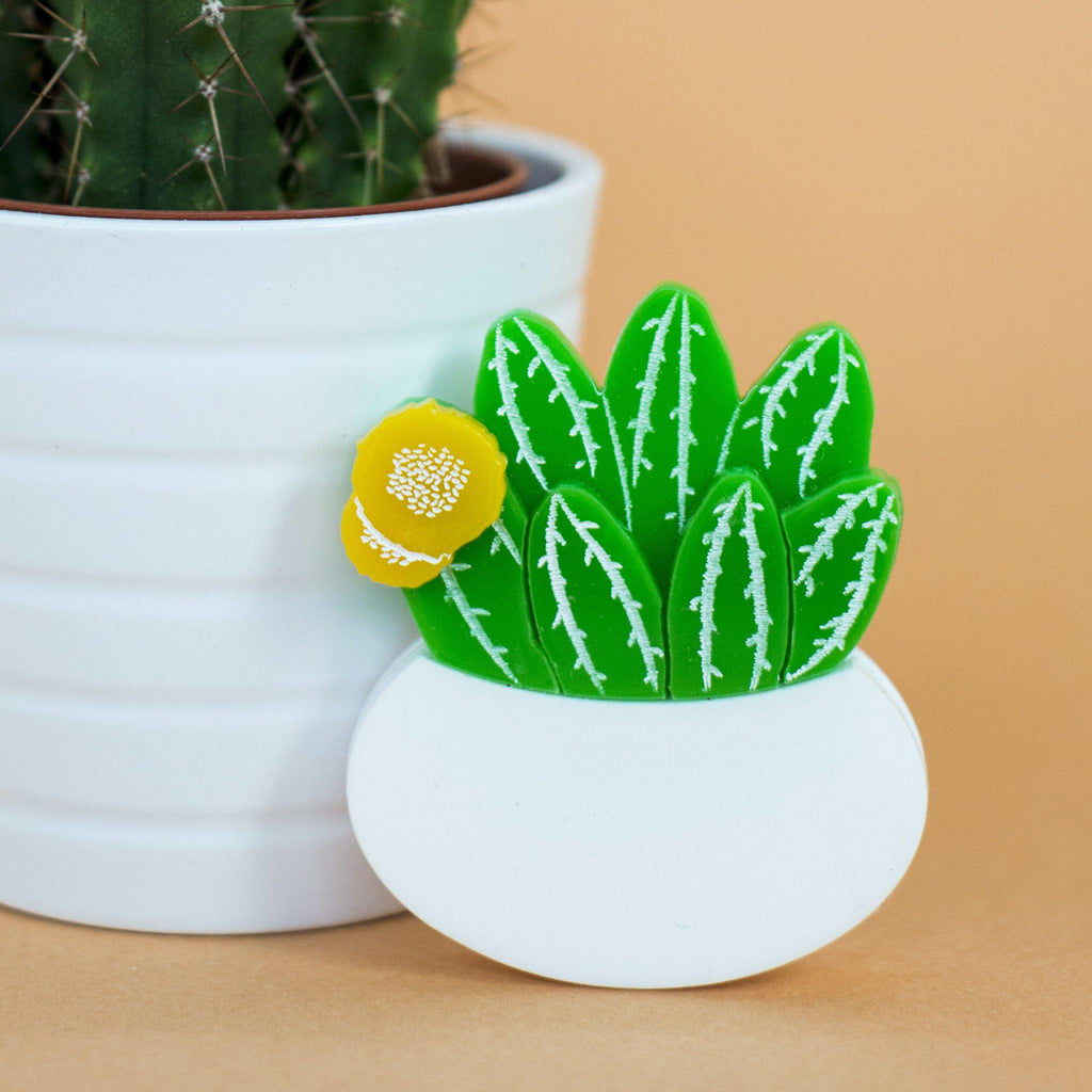 Flowering Cactus Brooch - Finest Imaginary