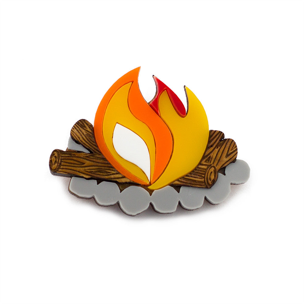 Camp Fire Brooch - Finest Imaginary