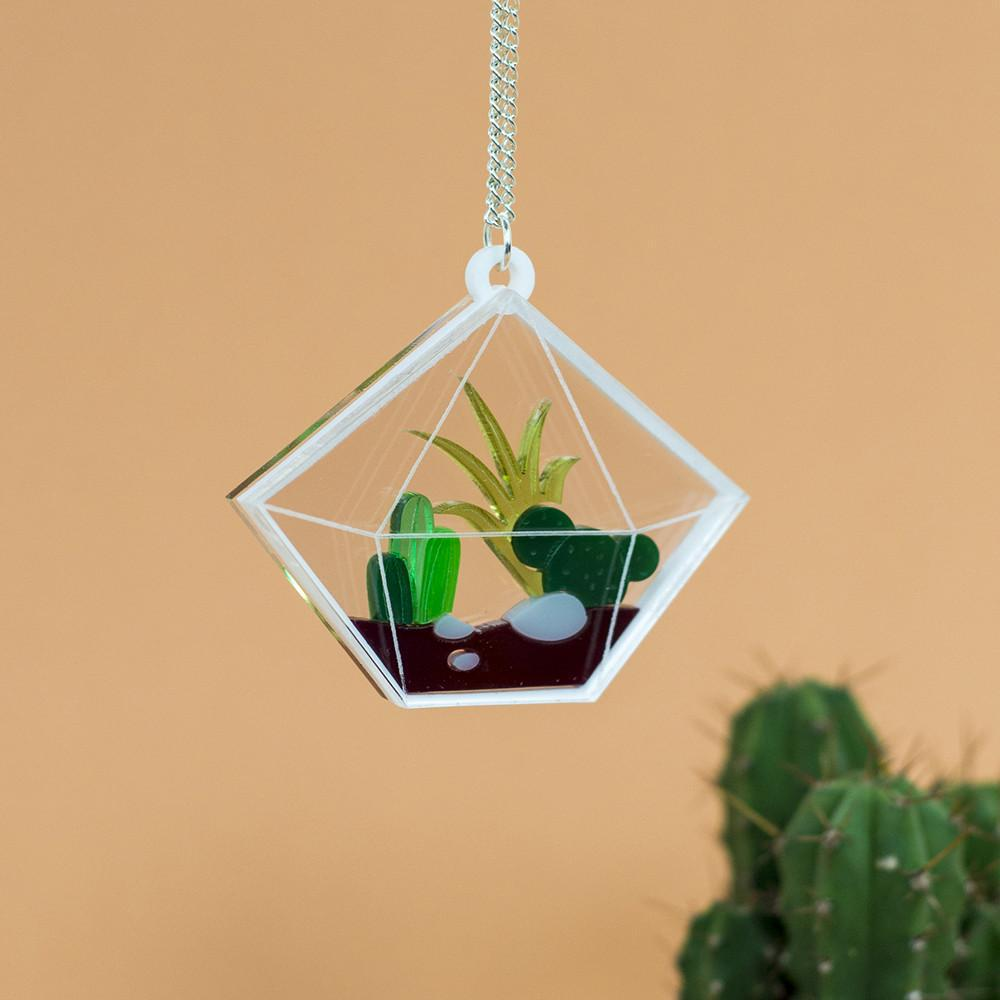Diamond Terrarium Necklace - Finest Imaginary