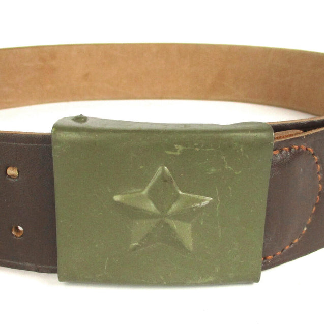 Czech Military Leather Belt