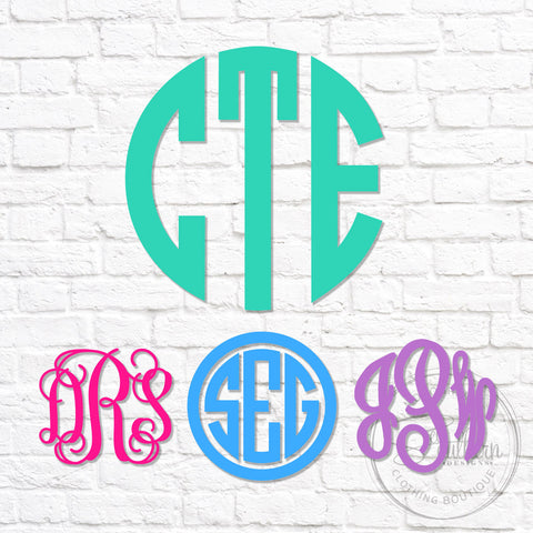 Regular Monogram Decal