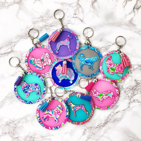 Lilly Dog Silhouette Keychain