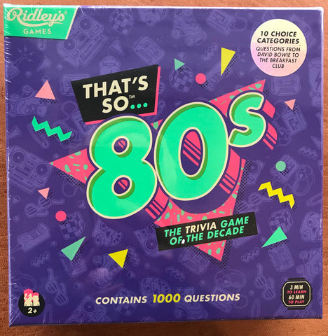 That's So 80's Trivia Game