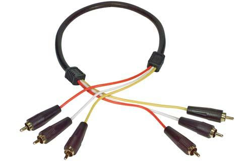 Cable 3-line-audio-video-rca-cable-rca-male-male-20-ft