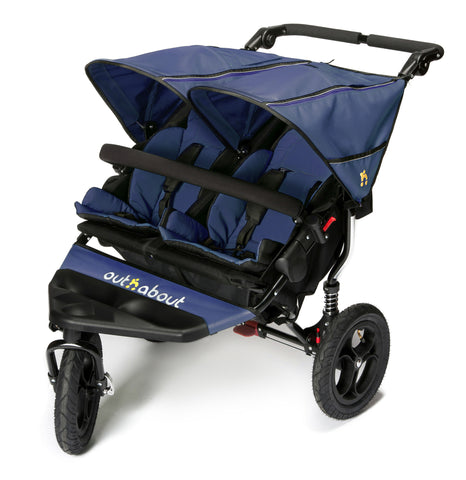 Out n About Nipper Double V4 Pushchair Royal Navy - Mid August Delivery