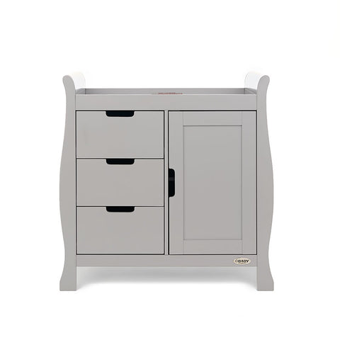 OBaby Stamford Sleigh Changing Unit - Warm Grey