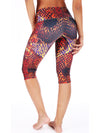 Orange Snake Compression Capri