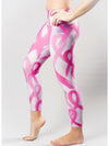 Stroked Pink Ribbon Compression Legging
