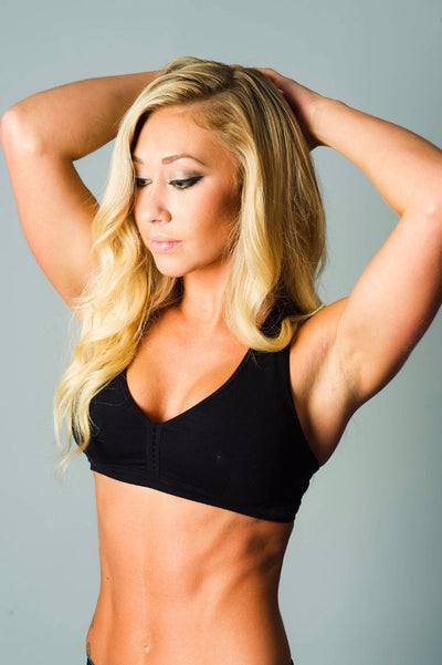 Down and Dirty Black Sports Bra