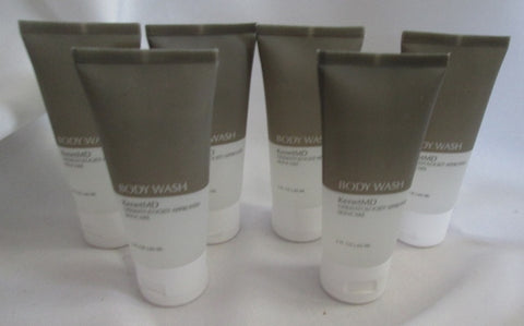 NEW LOT OF 6 KENET MD KENETMD BODY WASH 2 OZ EXTRA LARGE DOUBLE SIZE