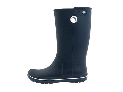 NEW Womens Ladies CROCS CROCBAND JAUNT Wellies Rain Boots Rainboots Foul Weather NAVY BLUE 6