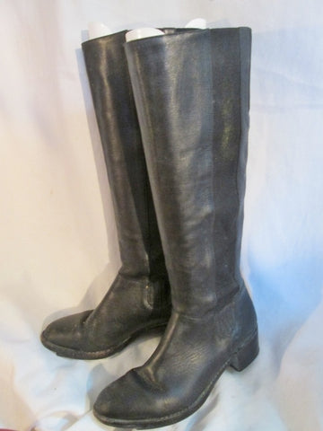 Womens COLE HAAN BRAZIL LEATHER Knee High Heel Riding GoGo Boots 7.5 BLACK