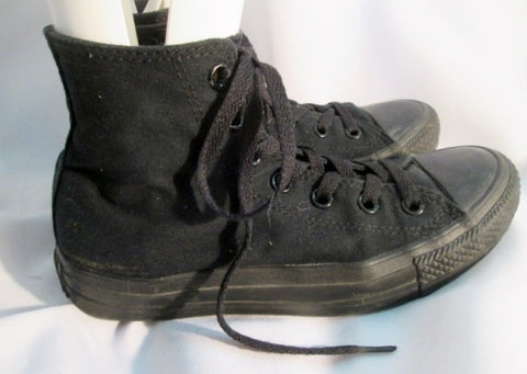 CONVERSE ALL STAR CHUCKS Chuck Taylor Hi- Top Sneaker Trainer Sports BLACK 5/7 Athletic Shoe