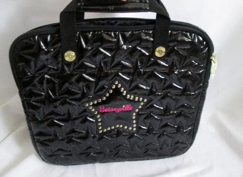 "14"" BETSEY JOHNSON BETSEYVILLE laptop case briefcase computer tablet BLACK STAR STUD"