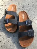 Saratoga Sandals in Black
