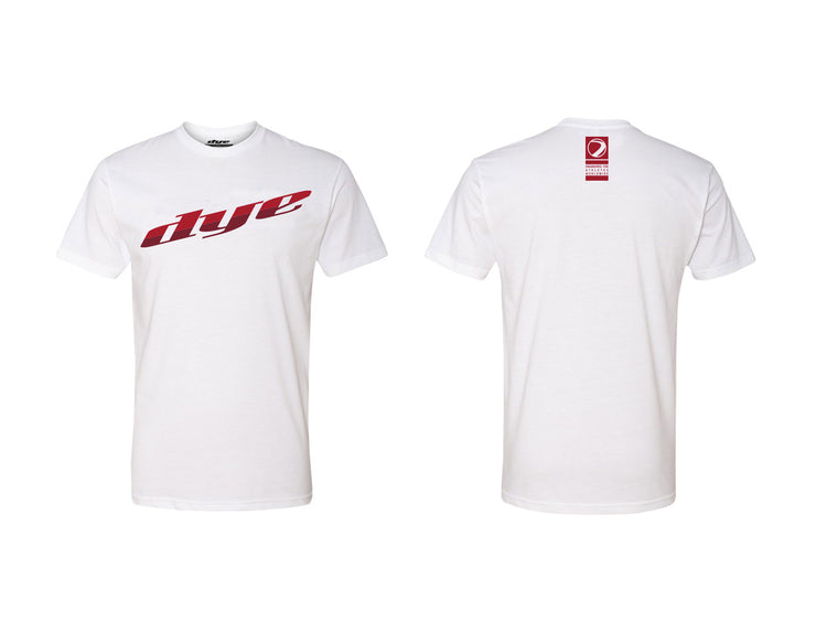 T-Shirt DYE Split White/Red