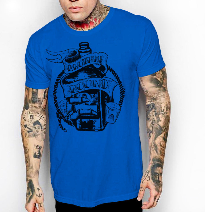 Another Round - Front Print Mens Jersey T-Shirt - Ink and Iron co.
