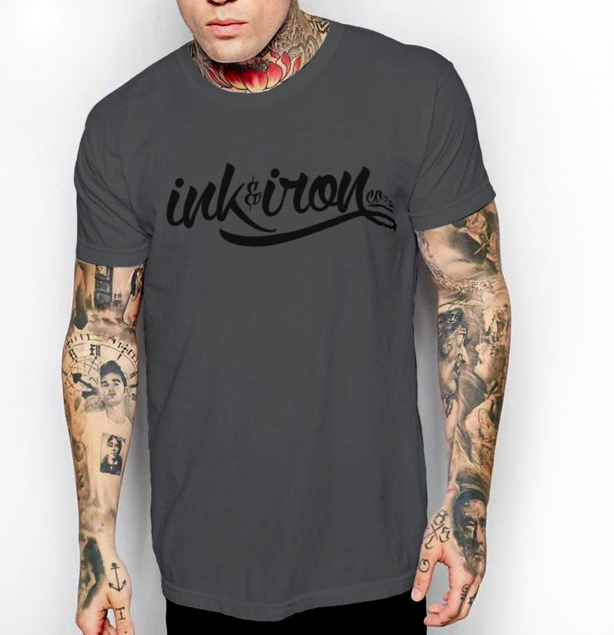 Branded Large - Front Print Mens Jersey T-Shirt - Ink and Iron co.
