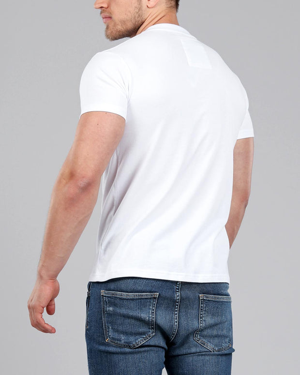 V-Neck T-Shirt White - Muscle Fit Basics