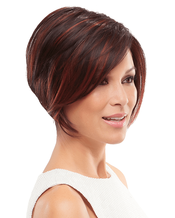 Jon Renau Ignite - Heat Resistant Angled Cut Sleek Bob Lace Front SmartLace - MaxWigs