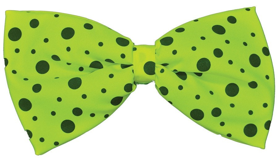 Morris Bow Tie Jumbo Neon Lime Green - MaxWigs
