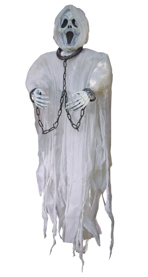 Morris Ghost Face Hangng Figure 36 In - MaxWigs