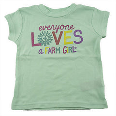 "Infant / Toddler ""Everyone Loves a Farm Girl"" T-Shirt (Mint) - F63008047"