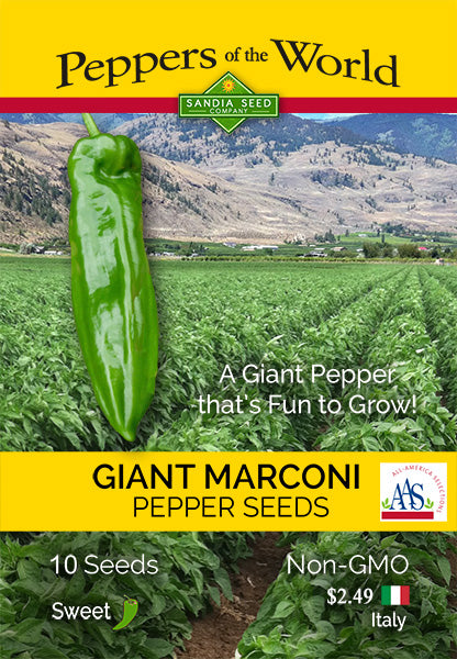 Giant Marconi Sweet Pepper Seeds - Sandia Seed Company