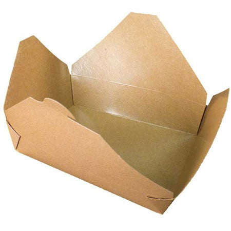 "GreenPak Recyclable #2 Kraft Take Out Food Box 8.5"" x 6.25"" x1.87"", Case of 200"