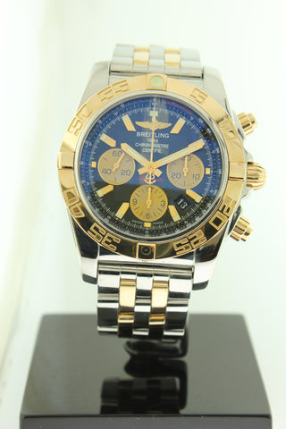 Breitling Chronomat 44 Automatic Chronograph 18K Gold & Stainless Steel CB0110 - Arnik Jewellers