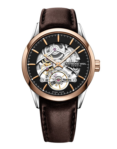 Raymond Weil Freelancer Calibre RW1212 Skeleton Automatic Brown 42mm 2785-SC5-20001 - Arnik Jewellers