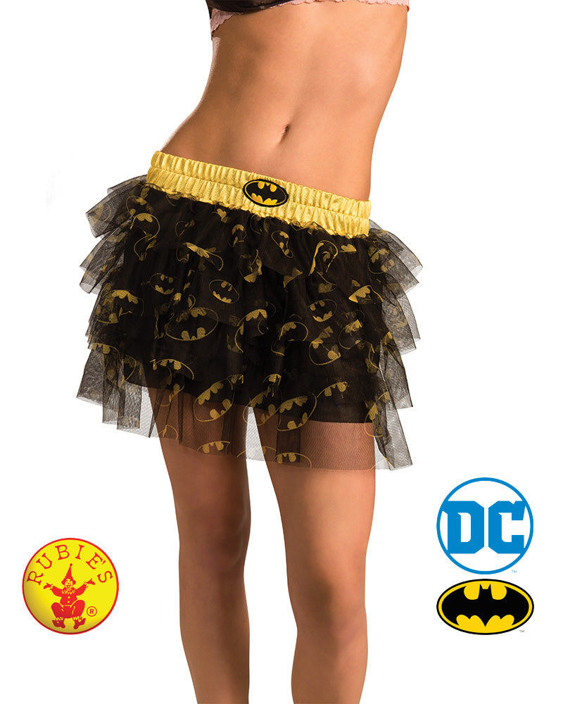 Batgirl Skirt With Sequins Adult - Size Std - Red Top Box