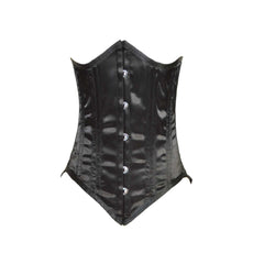 LADIES BLACK SATIN CORSET