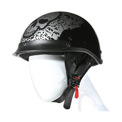 200 DOT APPROVED HELMET W/ BONEYARD SILVER  SKULL GRAPHIC