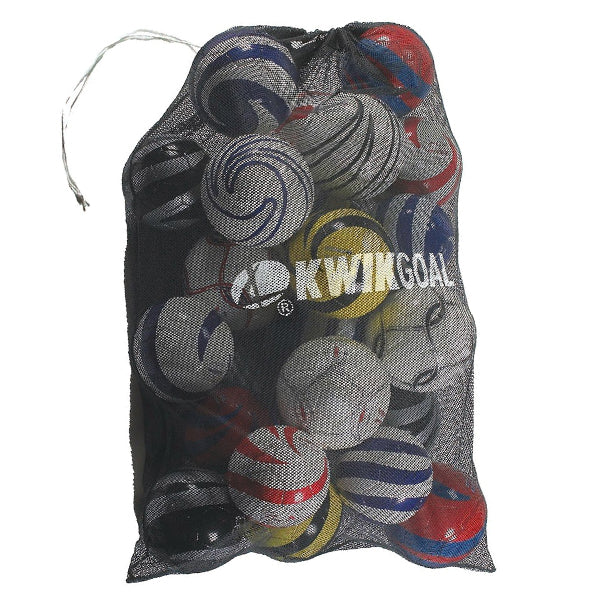 Kwik Goal Jumbo Equipment Soccer Ball Bag (Black)