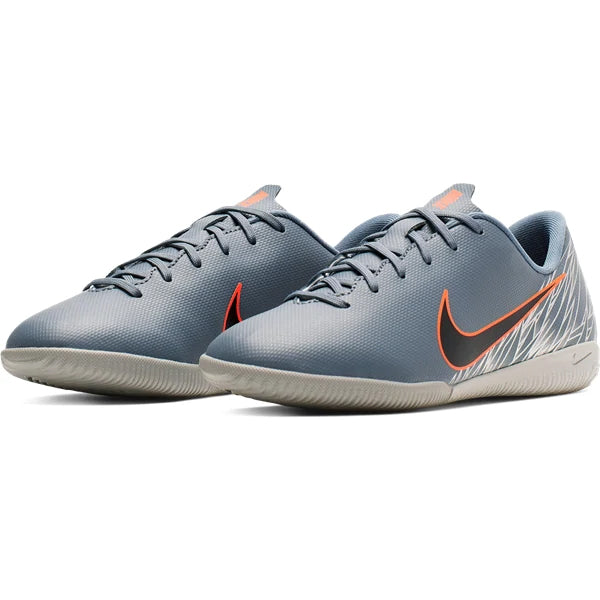 Nike Youth Junior Mercurial Vapor 12 Academy GS IC Indoor Shoes (Armory Blue/Wolf Grey)