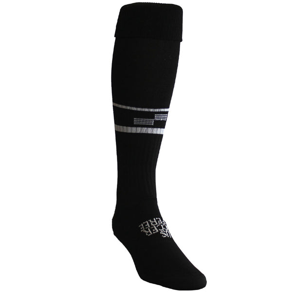 Official Sports 1305CL USSF Two Stripe Referee Socks (Black)