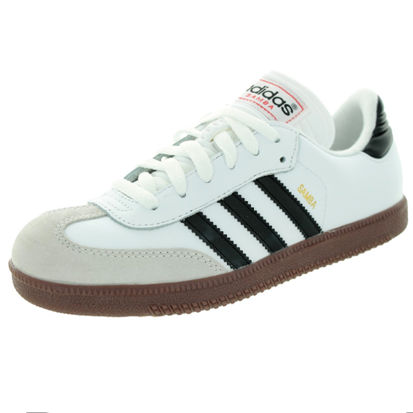 adidas Jr Samba Classic Indoor Soccer Shoe (White/Black)