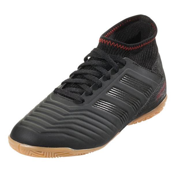 adidas Jr. Predator 19.3 Indoor Shoes (Black/Active Red)