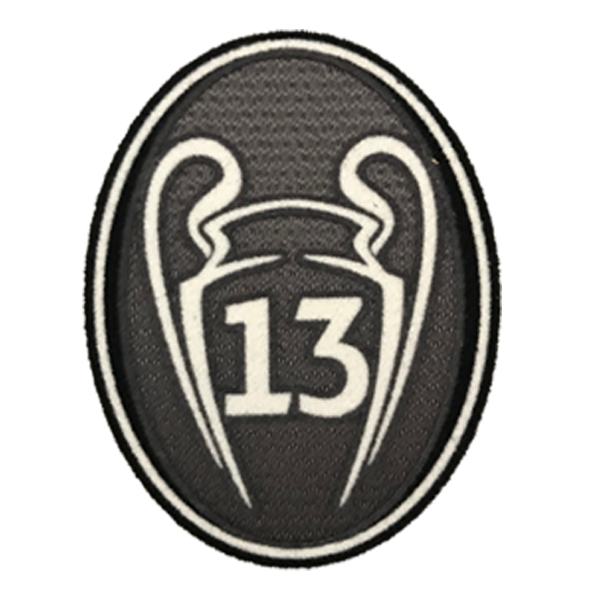 Champions League Real Madrid 13 Trophy Patch (Grey)