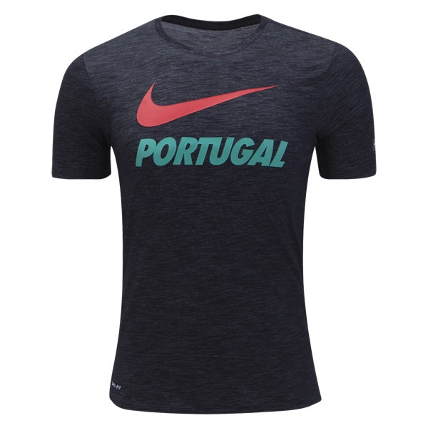 NIKE 18/19 PORTUGAL PREMATCH TEE (BLACK)